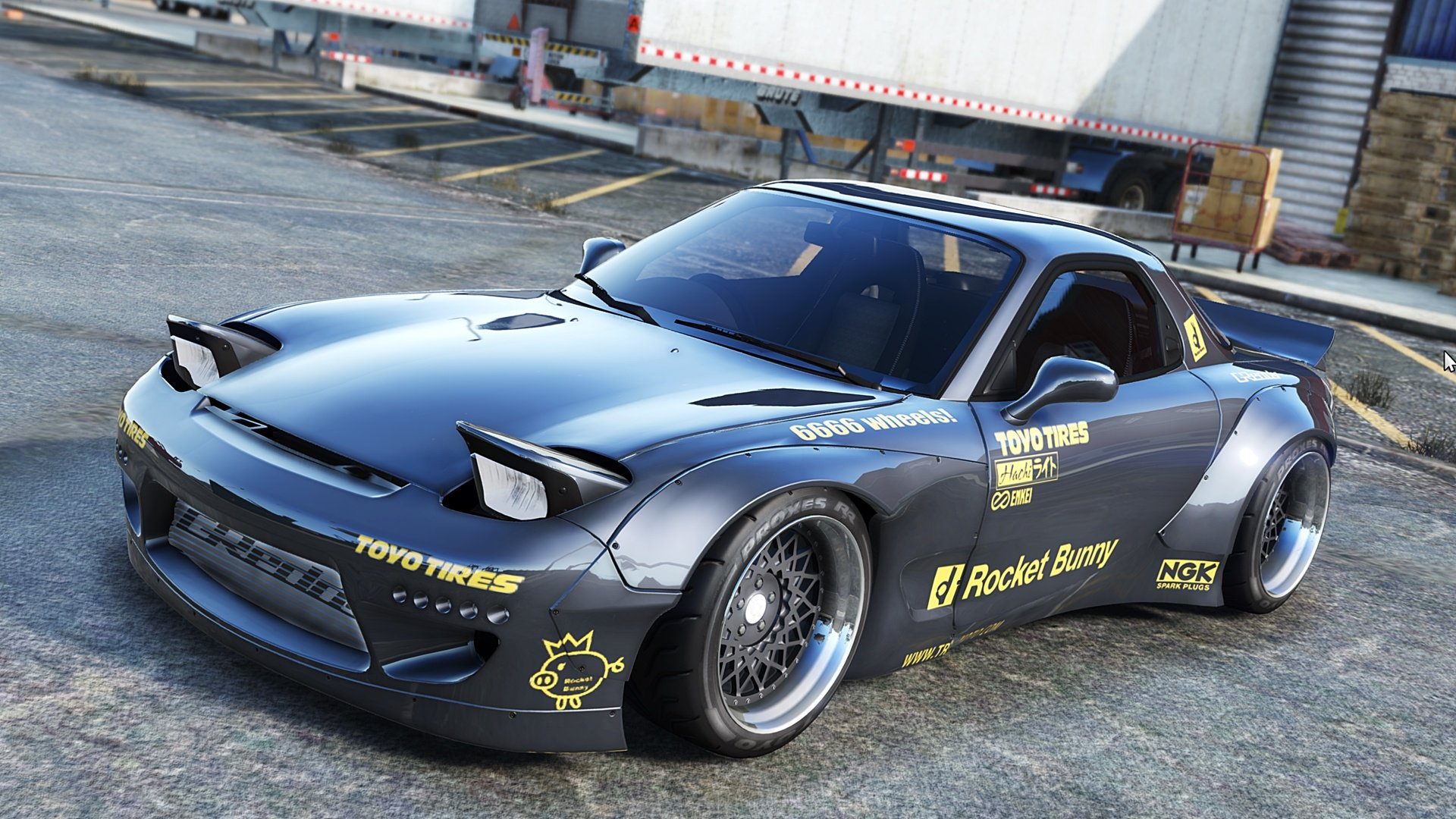 Rocket Bunny Body Kit Macda RX-7